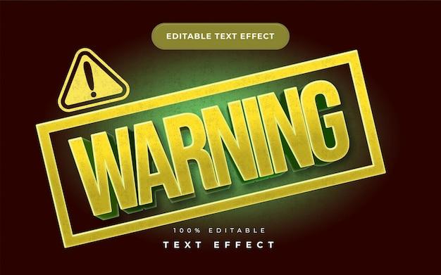 Effet de texte d'avertissement pour illustrateur