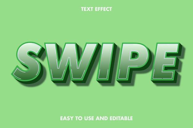 Effet de texte de balayage, texte modifiable.