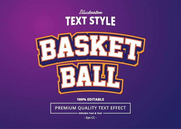 Effet de texte de basket-ball