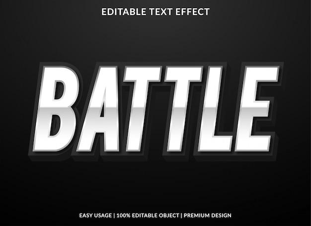 Effet de texte de bataille