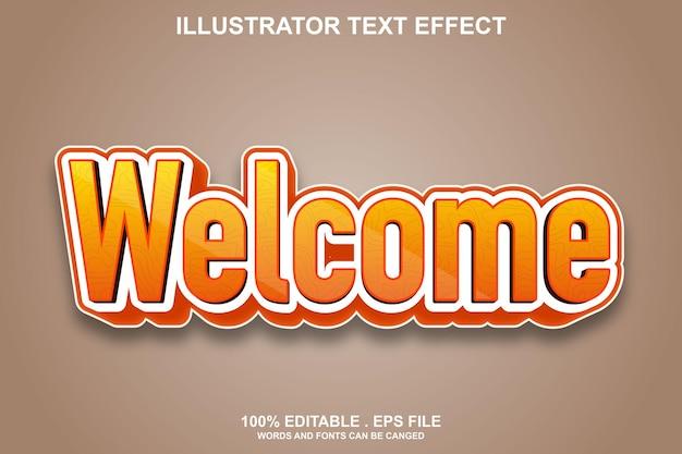 Effet de texte de bienvenue modifiable