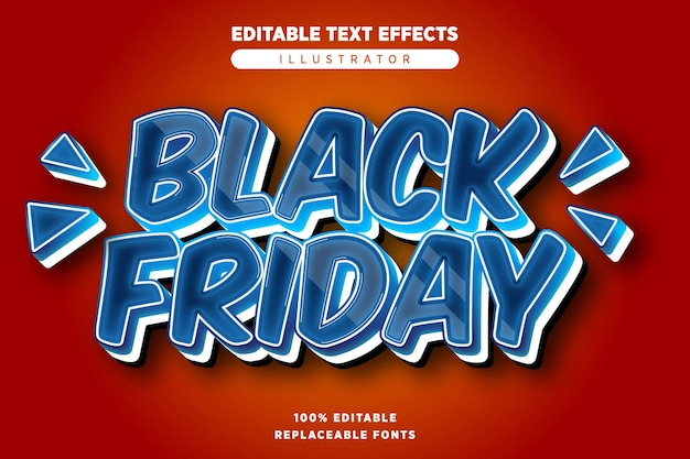 Effet de texte black friday modifiable