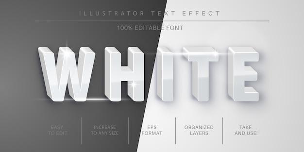 Effet de texte blanc 3d, style de police