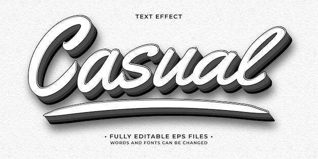 Effet de texte blanc minimaliste décontracté modifiable eps cc