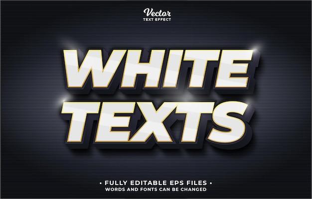 Effet de texte blanc modifiable les mots et les polices eps cc peuvent être modifiés