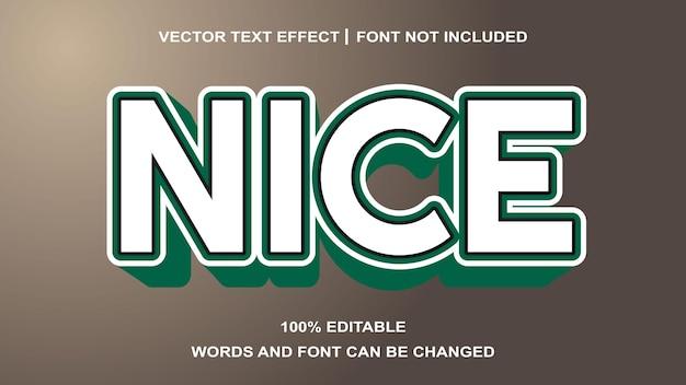 Effet de texte blanc modifiable style vert nice