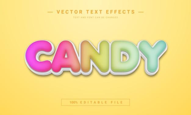 Effet de texte de bonbons colorés