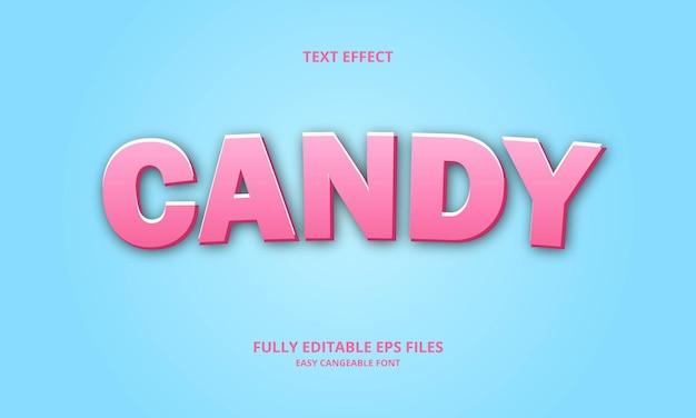Effet de texte de bonbons