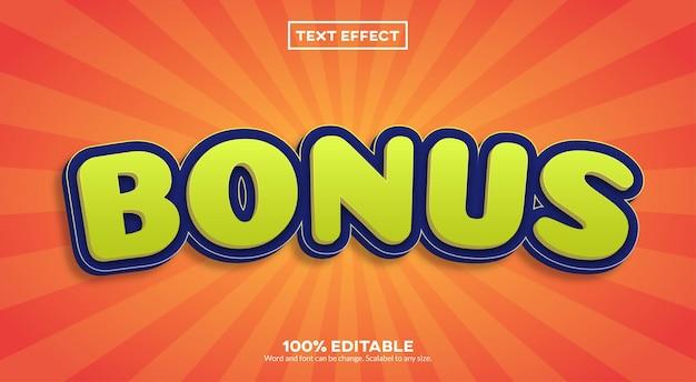 Effet de texte bonus
