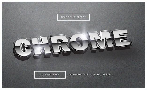 Effet de texte brillant chrome