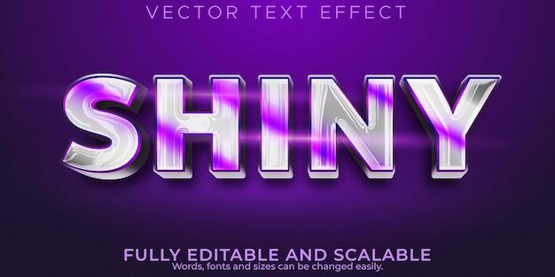 Effet de texte brillant métallique, luxe modifiable et style de texte élégant