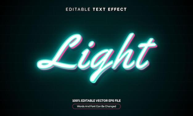 Effet de texte brillant néon 3d light glow effet de texte modifiable