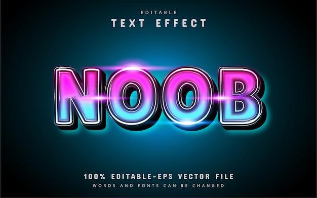Effet de texte brillant noob