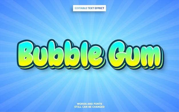 Effet de texte bubble gum