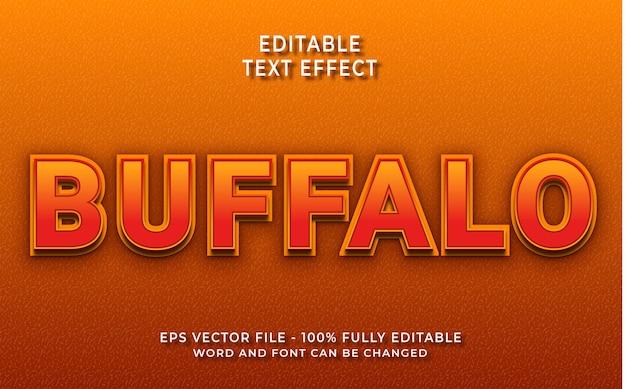 Effet de texte buffalo créatif