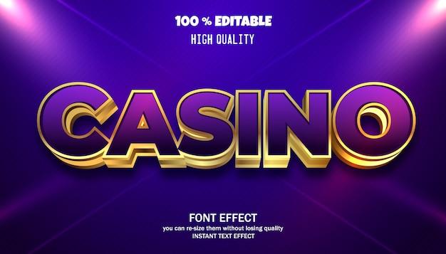 Effet de texte de casino