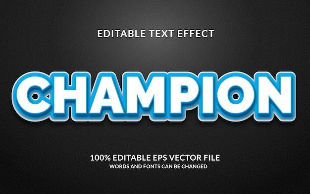 Effet de texte champion créatif