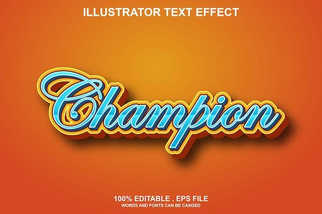 Effet de texte champion modifiable