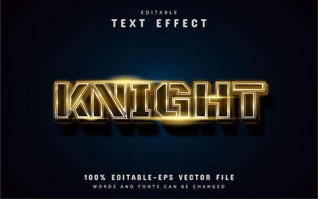 Effet de texte de chevalier d'or