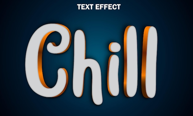 Effet de texte chill entièrement modifiable