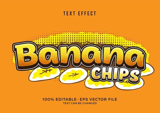 Effet de texte de chips de banane