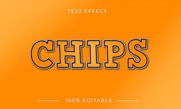 Effet de texte de chips avec une couleur dégradée