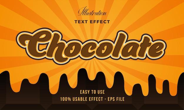 Effet de texte chocolat