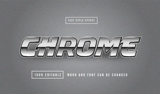 Effet de texte chrome argent modifiable