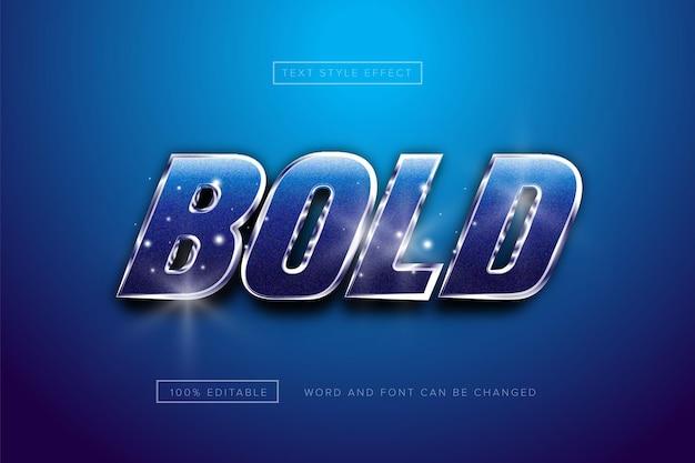 Effet de texte chrome blue bold premium téléchargement gratuit
