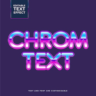 Effet de texte chromé créatif