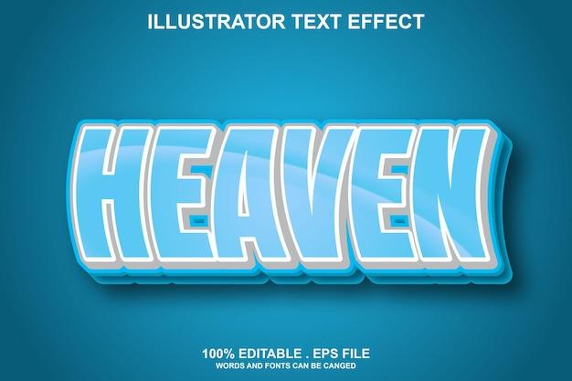 Effet de texte ciel modifiable