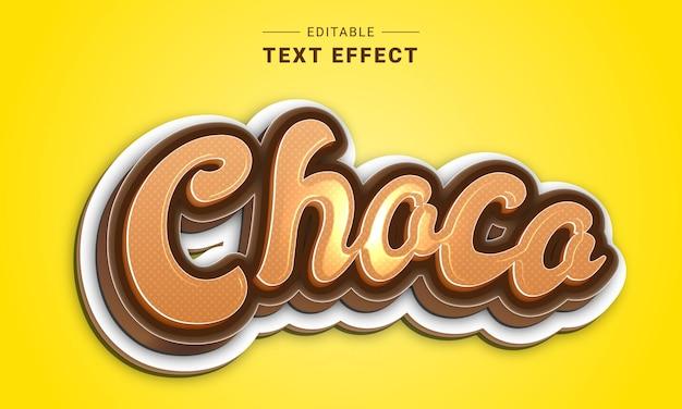Effet de texte cinématique modifiable pour illustrateur