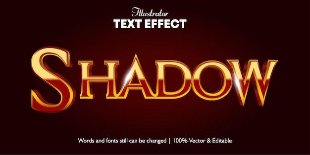 Effet de texte cinématographique 3d d'ombre