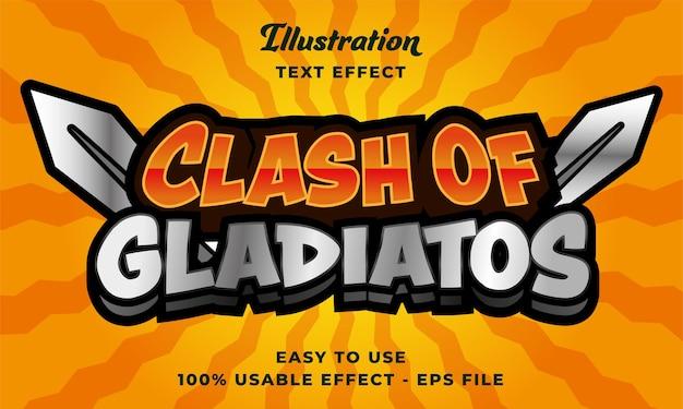 Effet de texte clash of gladiator