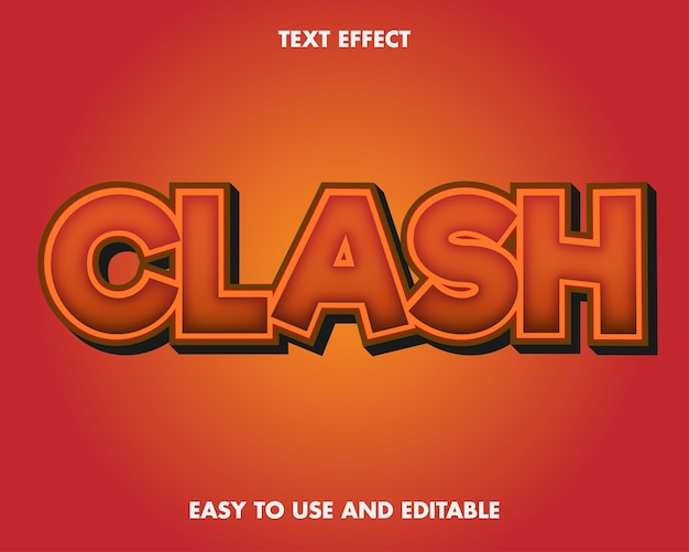 Effet de texte clash