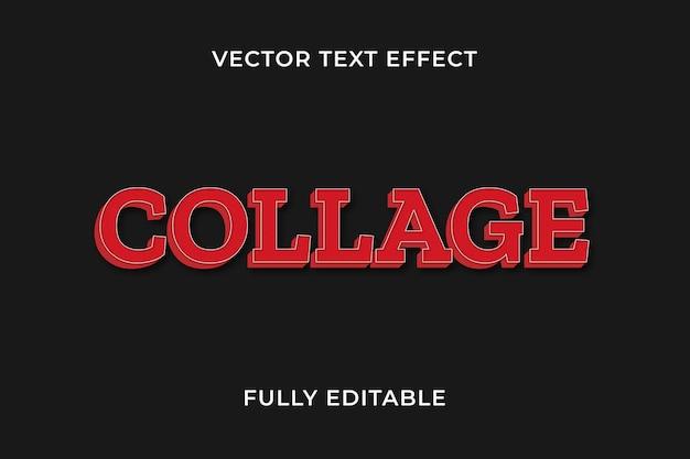 Effet de texte de collage