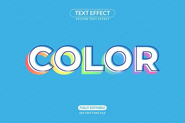 Effet de texte de conception de couleur de licorne de dessin animé modifiable