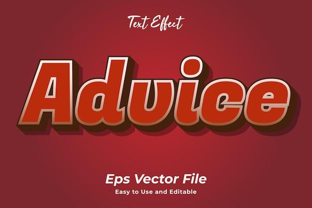 Effet de texte conseils vecteur premium facile à utiliser et modifiable