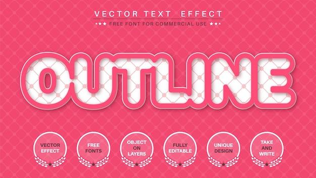 Effet de texte contour rose