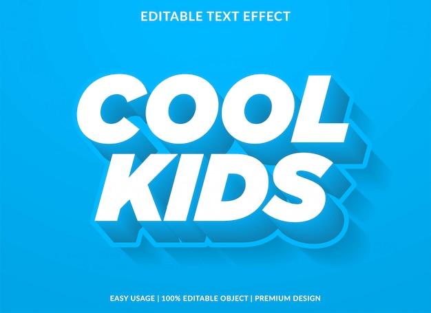 Effet de texte cool enfants avec un style audacieux 3d