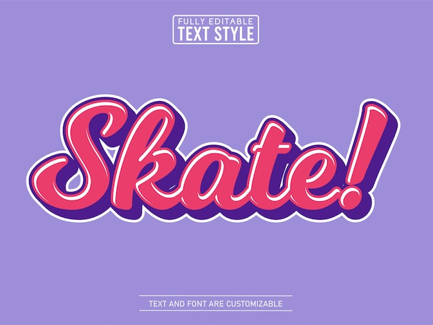 Effet de texte cool skate fluide tendance