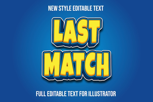 L'effet de texte correspond au dernier dégradé de couleur jaune et bleu