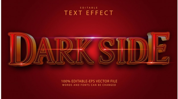 Effet de texte côté sombre