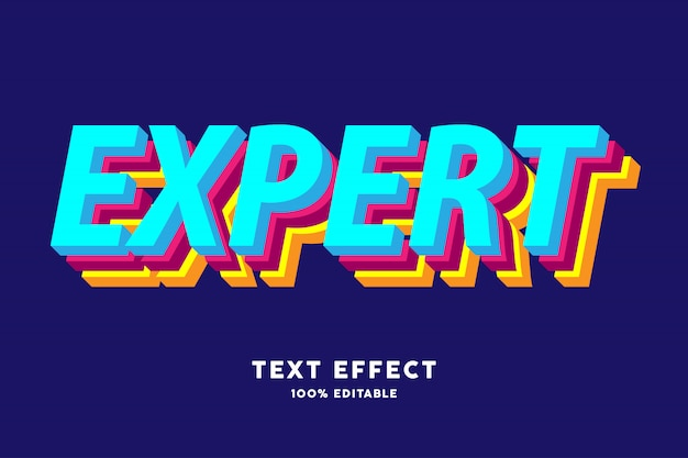 Effet de texte de couche colorée 3d