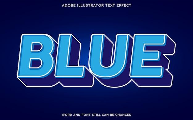 Effet de texte de couleur bleu 3d