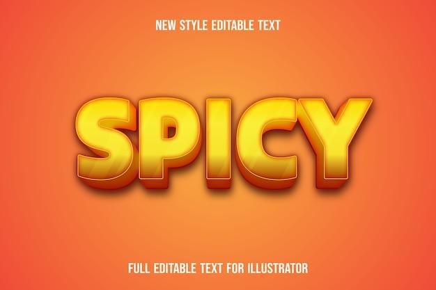 Effet de texte couleur épicée dégradé jaune et orange