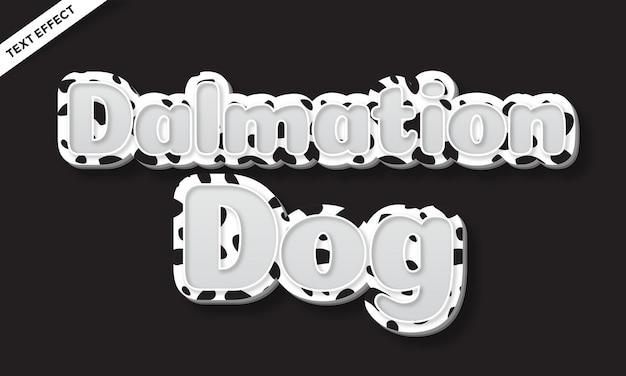 Effet de texte de couleur de peau de point de chien dalmatien