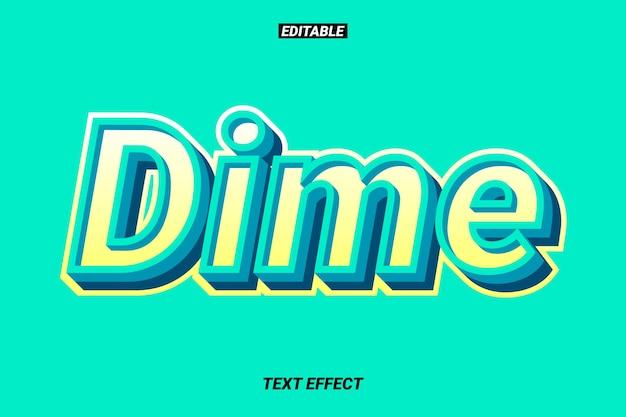 Effet de texte de couleur turquoise 3d