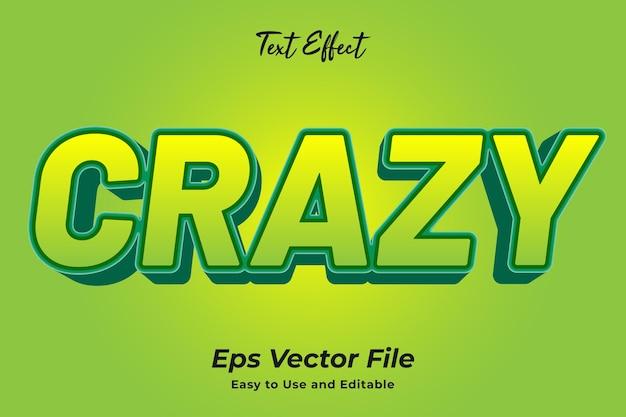 Effet de texte crazy vecteur premium modifiable et facile à utiliser
