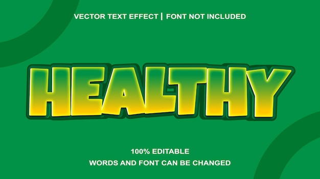 Effet de texte créatif sain